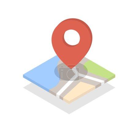 Photo pour Carte avec une broche isolée sur blanc - image libre de droit
