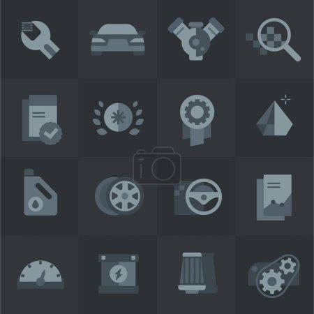 Photo pour Icônes d'achat et de service de voiture - image libre de droit