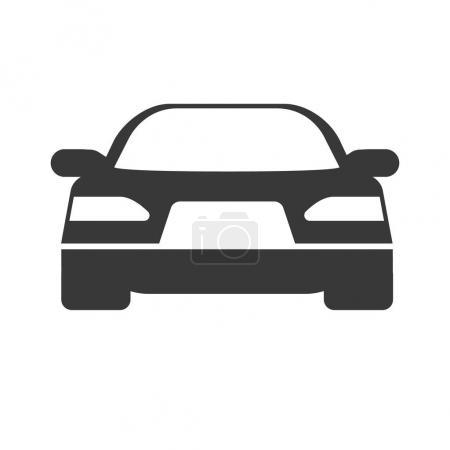 Photo pour Vecteur Icône de voiture simple, isolé sur blanc - image libre de droit