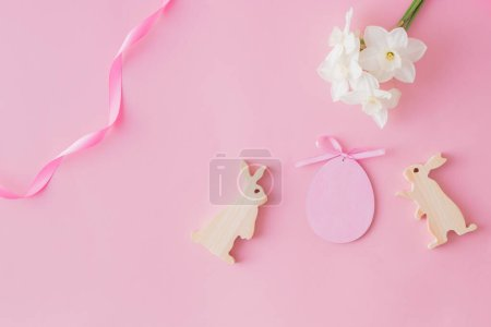 Flat lay easter composition
