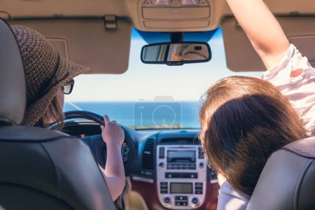 Photo for Man driving a car trip. - Royalty Free Image