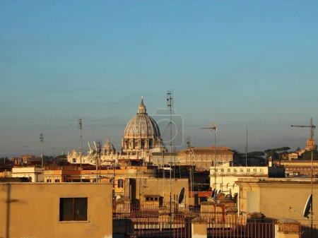 Cityshape of Rome Italy with Saint Peter Church