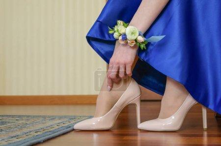 Wedding bridesmaid legs