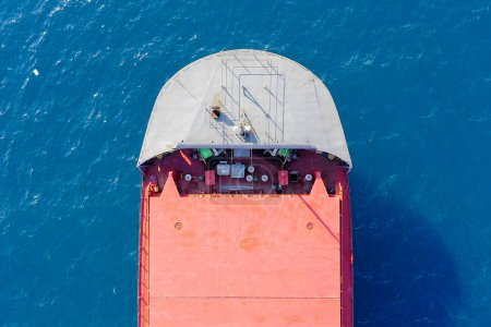 Photo for Aerial view of large general cargo ship - Royalty Free Image