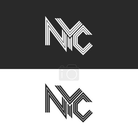 NYC lettering print t-shirt
