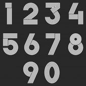 monochrome icons with numbers