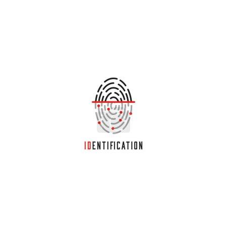 Fingerprint scanner logo