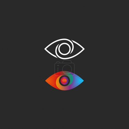 Eye logo gradient and linear style