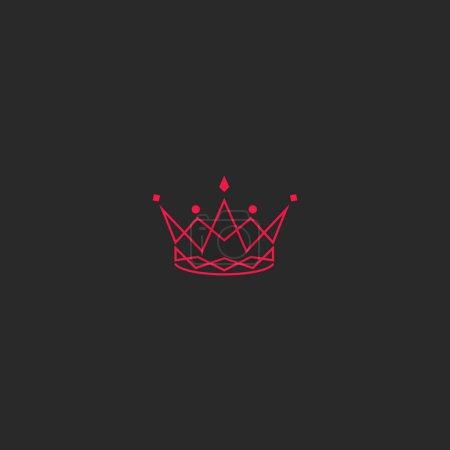 Silhouette crown logo
