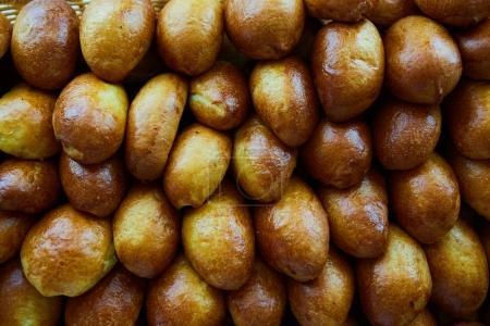 Photo pour Variété de produits de boulangerie, boulangerie, icône photo pour les aliments de base, fraîcheur et variété de produits . - image libre de droit