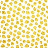 Hand Drawn Gold Dots Seamless Pattern