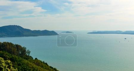 Beautiful Phuket view from Khao-Khad Views Tower, enjoy the 360-