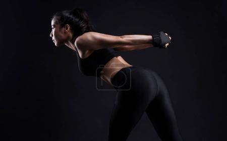 Fitness woman doing stretching workout