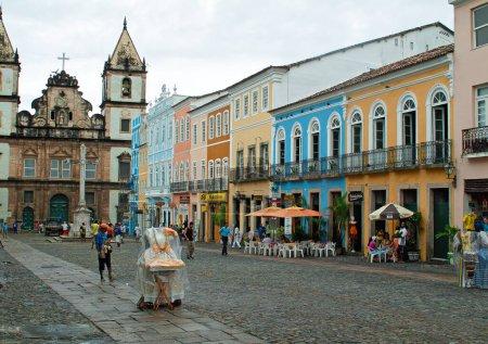 Photo pour Salvador Bahia, Pelourinho, Brésil - 205 avril : maisons coloniales portugaises typiques - image libre de droit