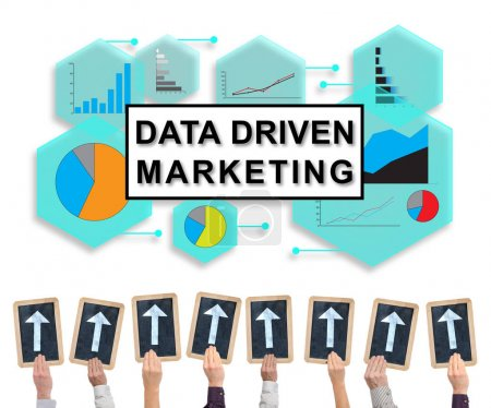 Data driven marketing concept on a whiteboard