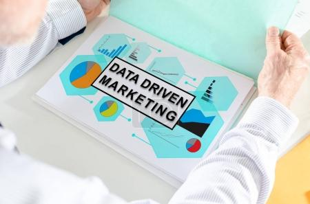 Data driven marketing concept on a paper