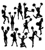 Cheerleader Activity Silhouettes art vector design
