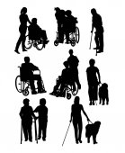 Silhouettes Activity People with Disabilities