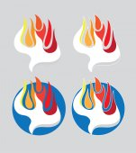Holy Spirit Fire Art Logo