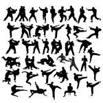 Martial Art Sport Silhouettes, art vector design...