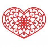 Vector Stencil lacy heart with carved openwork pattern Template for interior design layouts wedding invitations gritting cards envelopes decorative art objects etc Image suitable for laser cutting plotter cutting or printing Stock vector