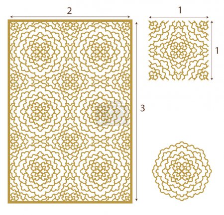 Vector Laser cut panel, the seamless pattern for d...