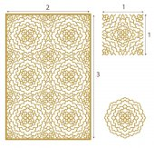 Vector Laser cut panel the seamless pattern for decorative pane