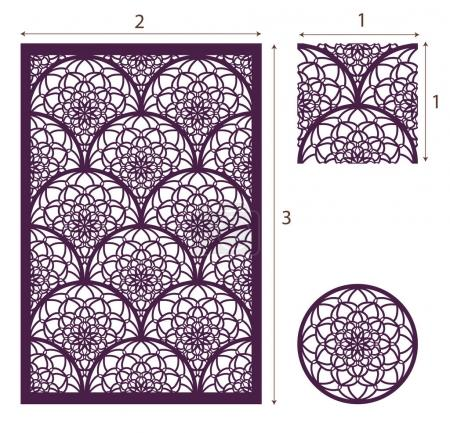 Illustration for Vector Laser cut panel, the seamless pattern for decorative panel. Image suitable for engraving, printing, plotter cutting, laser cutting paper, wood, metal, stencil manufacturing. Stock vector. - Royalty Free Image