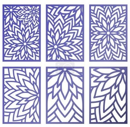 Set of Vector Laser cut panels. Abstract Pattern template for de
