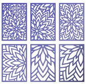 Set of Vector Laser cut panels Abstract Pattern template for de