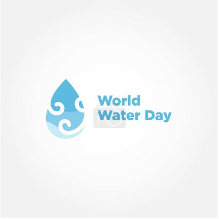 Photo for World Water Day Vector Design For Banner or Background - Royalty Free Image