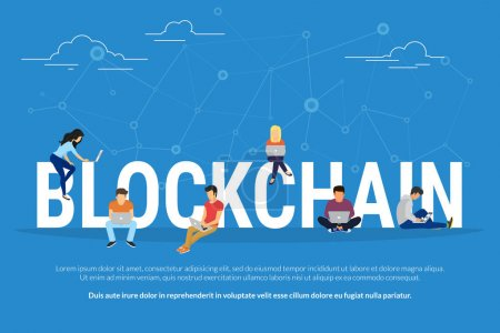 Blockchain concept illustration