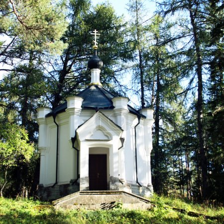 Chapel of the Cross of suffering. Valaam island.