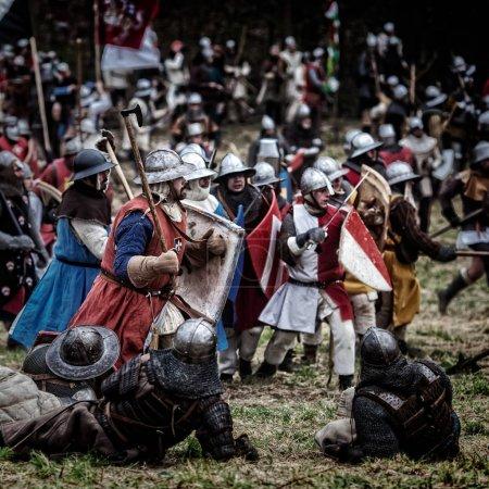 Medieval battle (reconstruction) Czech Republic, Libusin, 25.04.