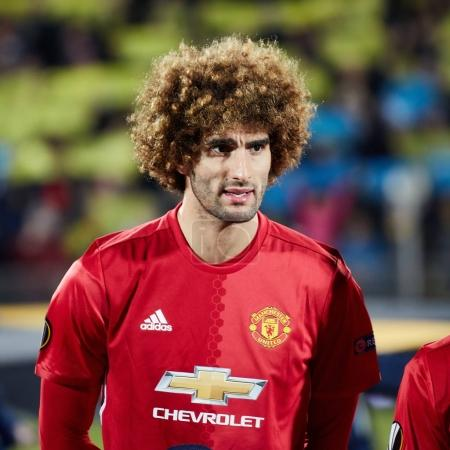 Marouane Fellaini in match 1/8 finals of the Europa League