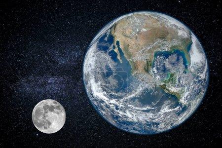 Photo pour Planète terre, vue depuis l'espace (les éléments de cette image fournie par la Nasa) - image libre de droit