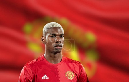 Paul Pogba before match 1/8 finals of the Europa League between