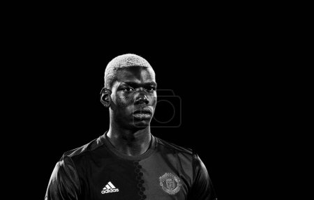 Paul Pogba before match 1/8 finals of the Europa League