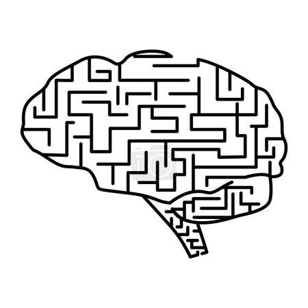 Maze brain icon