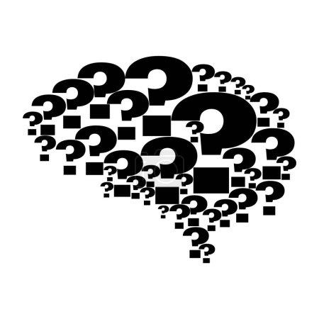 Question brain icon