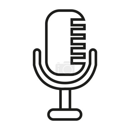 simple microphone icon
