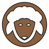 simple sheep icon