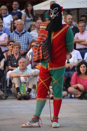 Photo for Traditional Basque dance in a folk festival - Royalty Free Image