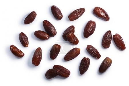 Dried deglet nour dates ph. dactylifera, top, paths