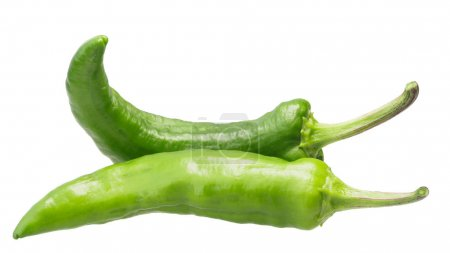 Crooked green pepper pods, paths