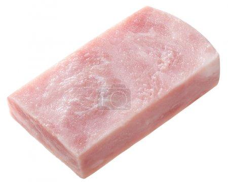 Piece of marbled ham slice, paths