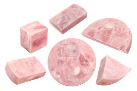 Marbled ham slices, paths