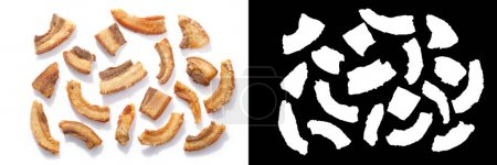 Pork rinds or chicharron, greaves, scratchings or ...