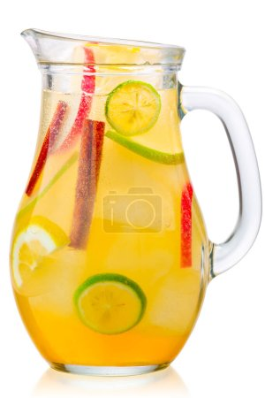 Iced apple cinnamon lemonade jug, paths