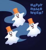 three dancing ghosts